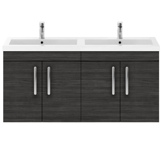 Alternate image of Premier Athena 1200mm Wall Hung 4 Door Cabinet With Double Basin