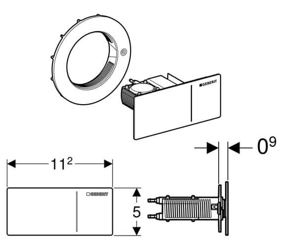 Technical drawing QS-V93538 / 115.089.SI.1