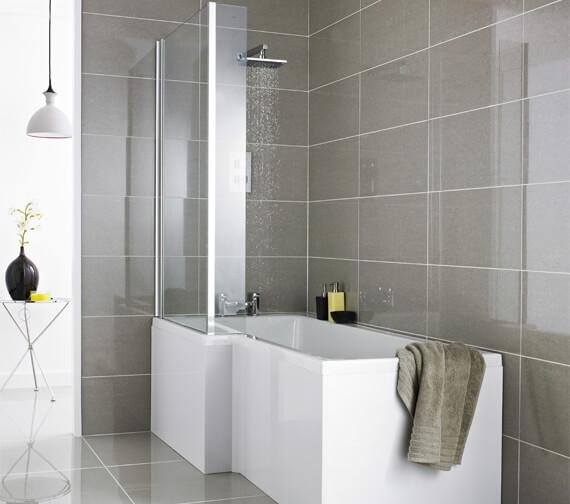 Premier Square Left Hand Shower 1500mm Bath Set