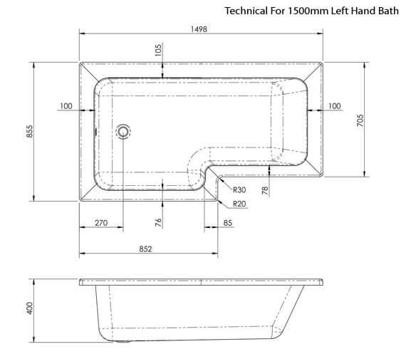 Technical drawing QS-V42517 / SBATH28