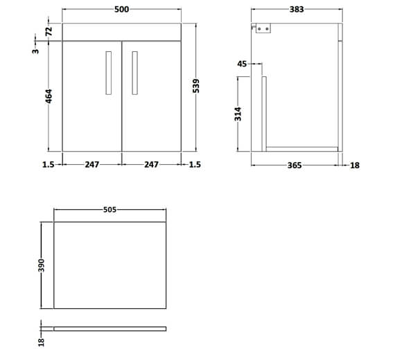 Technical drawing QS-V96178 / ATH088W
