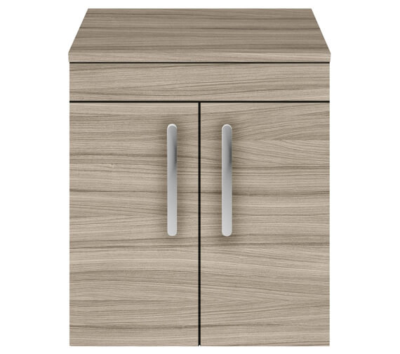 Additional image of Nuie Athena 500mm Wall Hung 2 Door Cabinet With Worktop