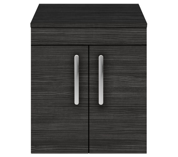 Alternate image of Nuie Athena 500mm Wall Hung 2 Door Cabinet With Worktop