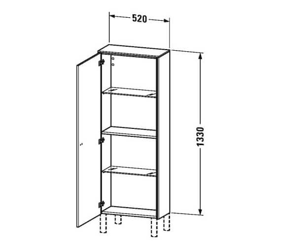 Technical drawing QS-V95851 / BR1300L1818