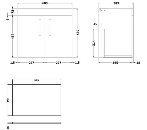 Technical drawing QS-V96181 / ATH095W