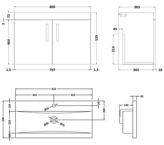 Technical drawing QS-V96182 / ATH102A