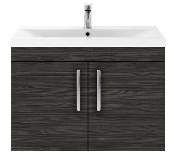 Alternate image of Premier Athena 800mm Wall Hung 2 Door Cabinet With Basin 1