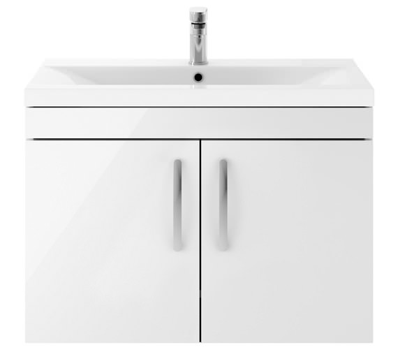 Premier Athena 800mm Wall Hung 2 Door Cabinet With Basin 2