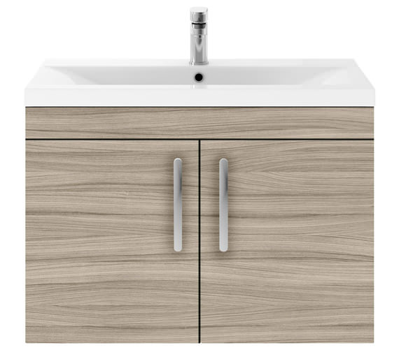 Additional image of Premier Athena 800mm Wall Hung 2 Door Cabinet With Basin 2