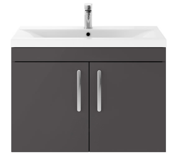 Alternate image of Premier Athena 800mm Wall Hung 2 Door Cabinet With Basin 2