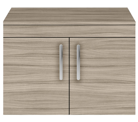 Additional image of Nuie Premier Athena 800mm Wall Hung 2 Door Cabinet With Worktop