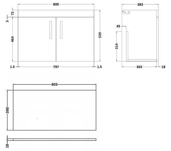 Technical drawing QS-V96184 / ATH102W