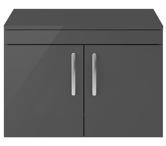 Alternate image of Nuie Premier Athena 800mm Wall Hung 2 Door Cabinet With Worktop