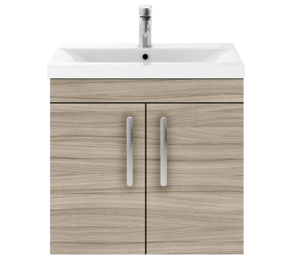 Additional image of Premier Athena 600mm Wall Hung 2 Door Cabinet With Basin 1