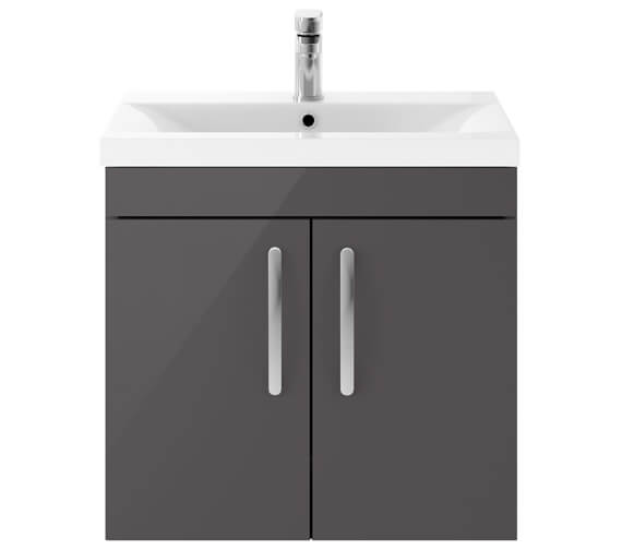 Alternate image of Premier Athena 600mm Wall Hung 2 Door Cabinet With Basin 1