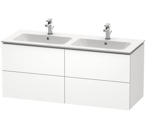 Duravit L-Cube Wall Mounted 1290mm 4 drawers Vanity Unit For Me By Starck Basin
