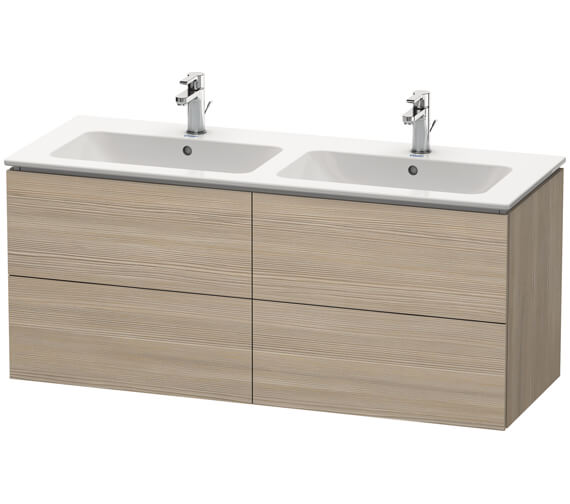 Additional image of Duravit L-Cube Wall Mounted 1290mm 4 drawers Vanity Unit For Me By Starck Basin