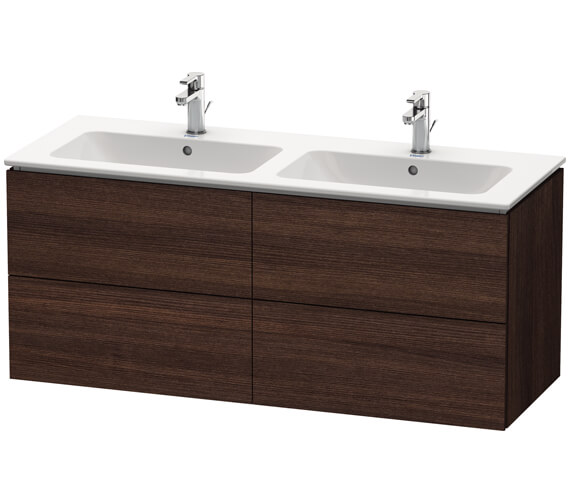 Alternate image of Duravit L-Cube Wall Mounted 1290mm 4 drawers Vanity Unit For Me By Starck Basin