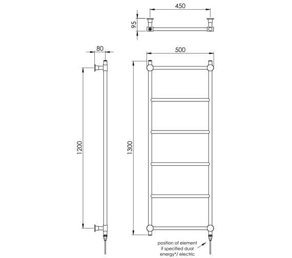 Technical drawing QS-V88554 / CN022 BR1300500CP