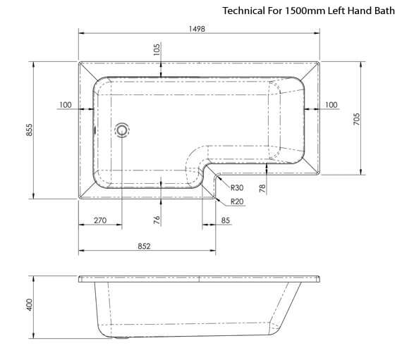 Technical drawing QS-V42518 / WBS1585L