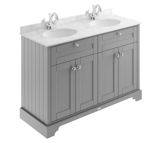 Alternate image of Old London 1200mm Floor Standing Unit And Double Basin With Marble Top