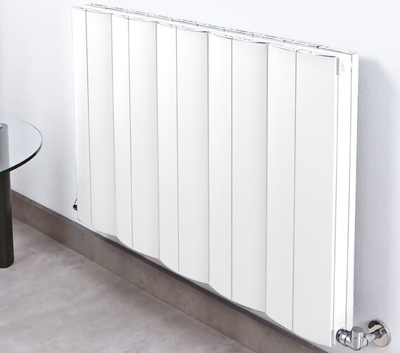 Phoenix Space 400mm High Pre Filled Electric Radiator - White
