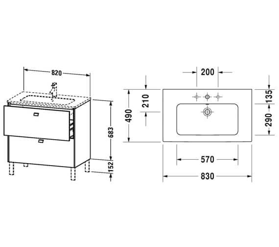 Technical drawing QS-V95808 / BR440101818