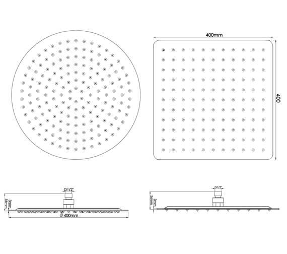 Technical drawing QS-V78568 / HEAD45A