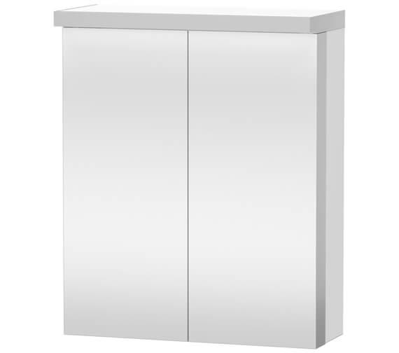 Duravit Fogo 600 x 740mm 2 Door White Matt Mirror Cabinet