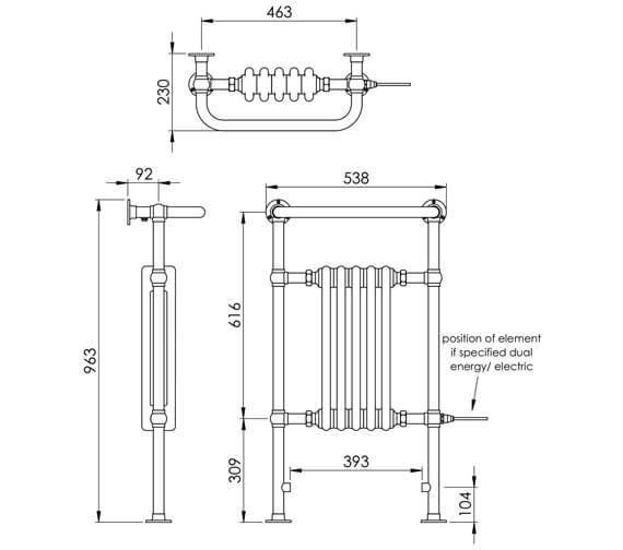 Technical drawing QS-V88560 / LG004 MS0945500CP
