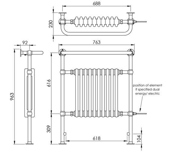 Technical drawing QS-V88562 / LG004 MS0965765CP