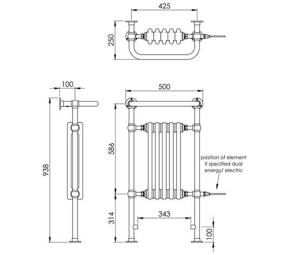 Technical drawing QS-V88564 / LG004C BR093050CP