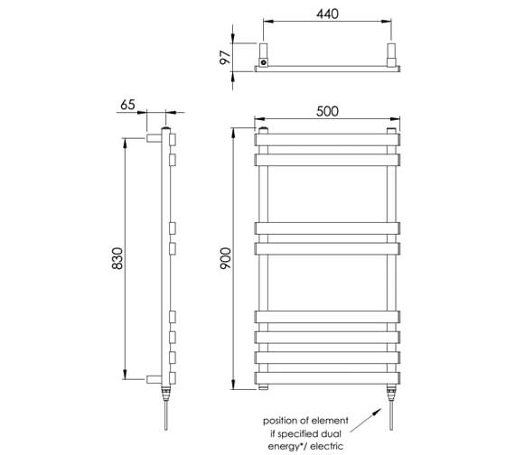 Technical drawing QS-V88537 / MD040 SS0900500PS