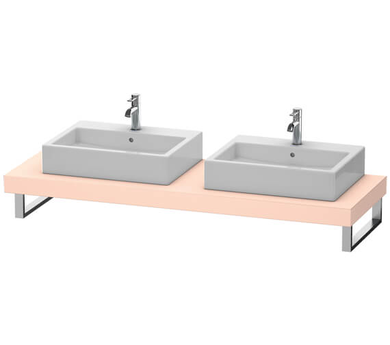 Additional image of Duravit Fogo 800 x 550mm Jade High Gloss Console With 2 Cut Out For Above Countertop Basin