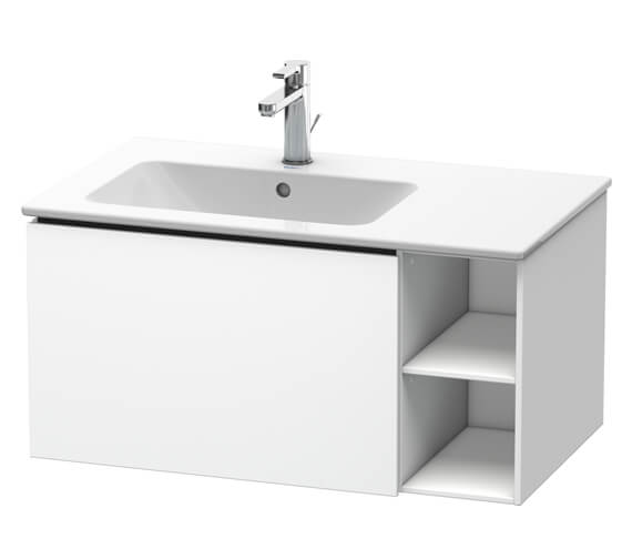 Duravit L-Cube 1 Drawer Wall-Mounted Vanity Unit For Me By Starck Basin