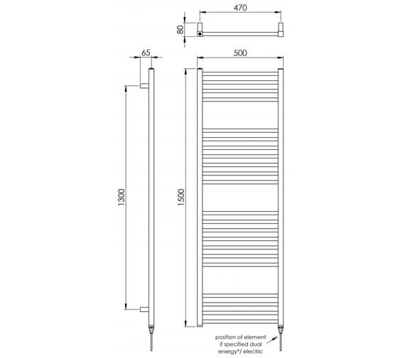 Technical drawing QS-V88536 / MD038 SS0800500PS