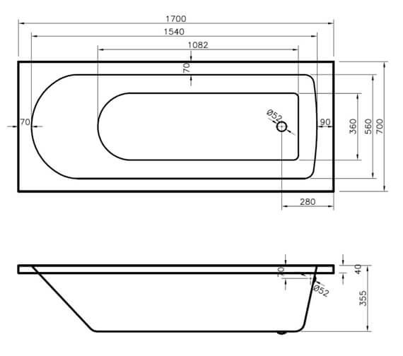 Technical drawing QS-V14081 / BMON013
