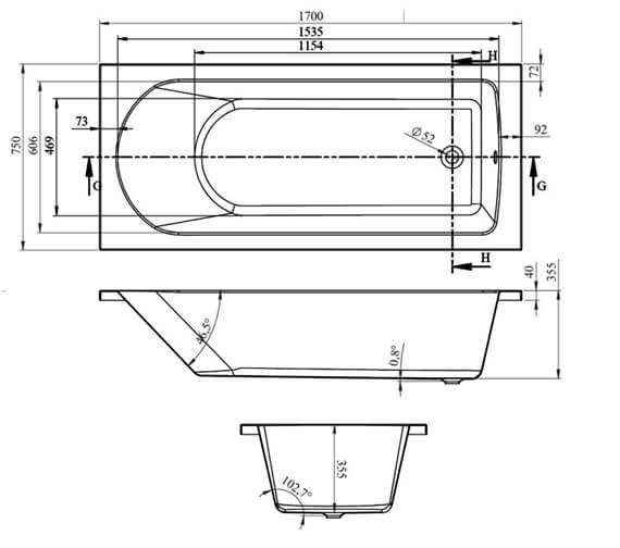 Additional image for QS-V14081 Hudson Reed - BMON013