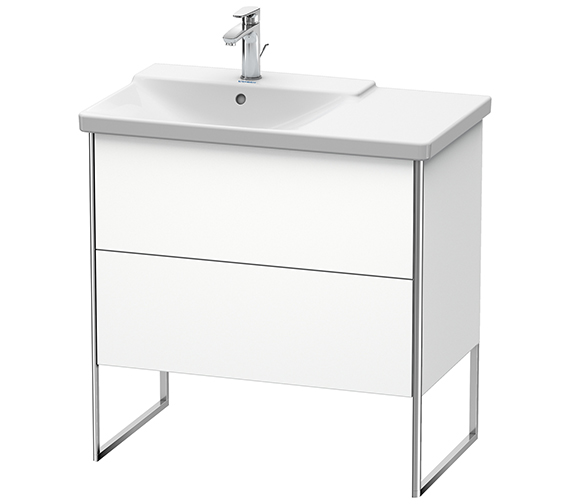 Duravit XSquare 810 x 473 x 805mm Floor-Standing 2 Drawer Vanity Unit For Basin Left
