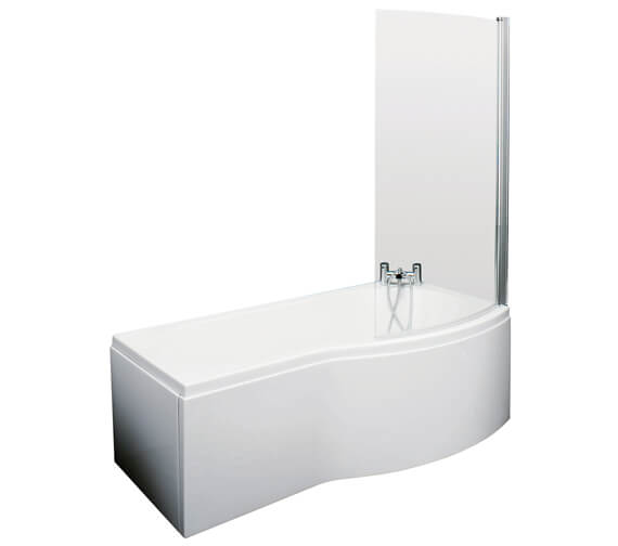 Additional image of Nuie Premier B-Shaped Left Hand 1500mm Shower Bath Set