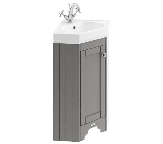 Additional image of Old London 595mm Floor Standing Corner Cabinet And Basin