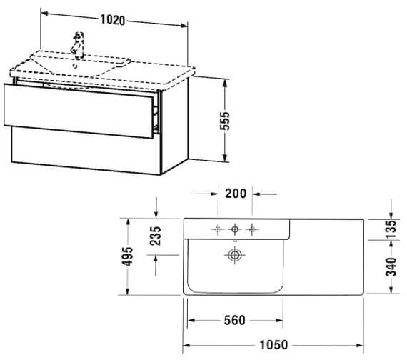 Technical drawing QS-V63345 / LC624801818