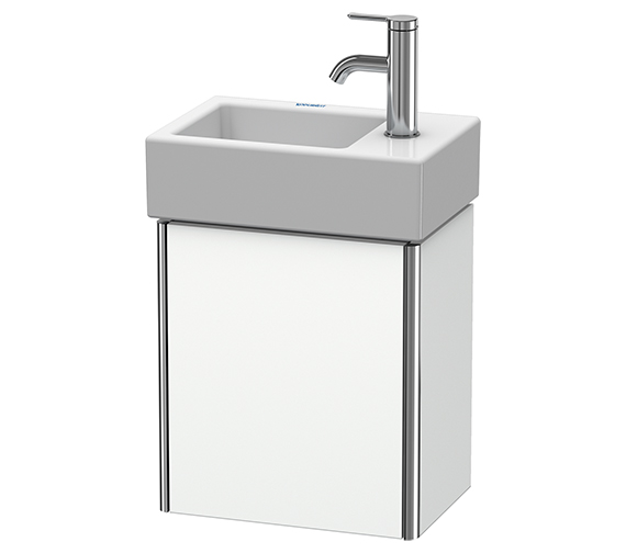 Duravit XSquare Wall-Mounted 364 x 240 x 397mm 1 Left-Hand Hinged Door Vanity Unit With Basin