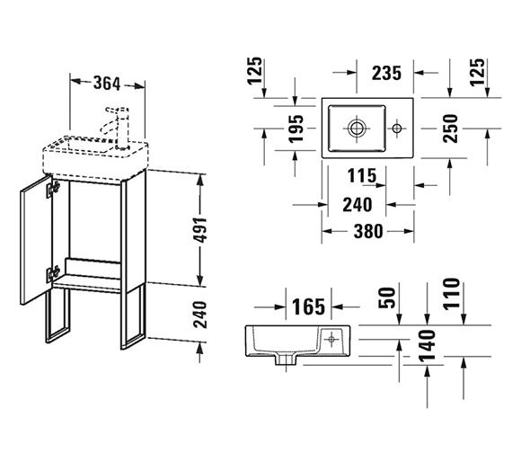 Technical drawing QS-V99050 / XS4479L1818