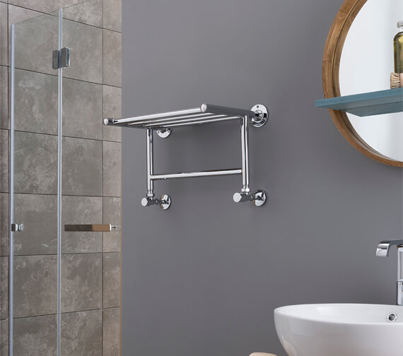 Vogue Solo 500 x 263mm Brass Towel Rack