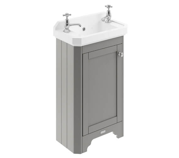 Additional image of Old London 515mm Floor Standing Vanity Unit With 2 Taphole Basin