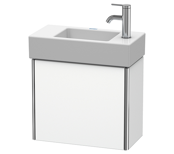 Duravit XSquare Wall-Mounted 1 Left-Hand Hinged Door Vanity Unit 484 x 240 x 397mm