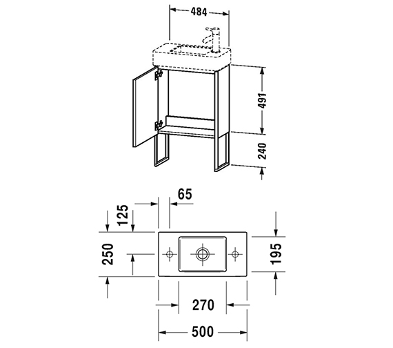 Technical drawing QS-V99052 / XS4471L1818