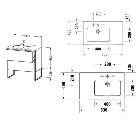 Technical drawing QS-V99610 / XS445001818