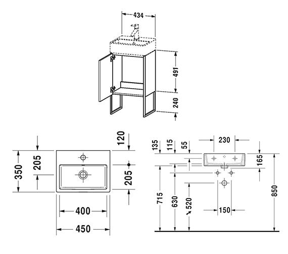 Technical drawing QS-V99054 / XS4470L1818